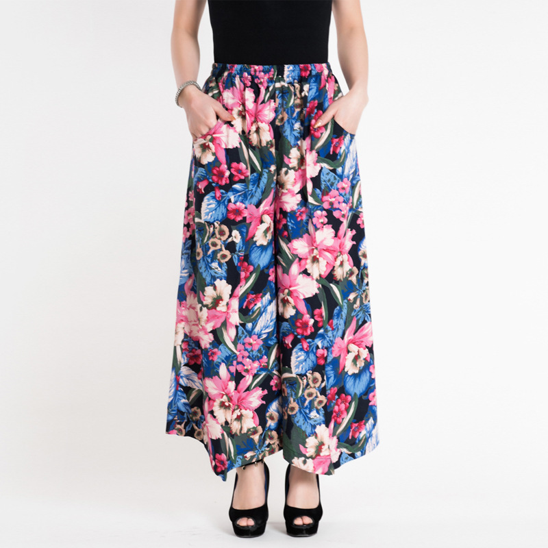 2017 NEW Summer Boho   Pants   Plus size   Pants   Women Maxi Palazzo Mother's Day Gift leggings Casual Skirt Trousers   Capris   Cropped
