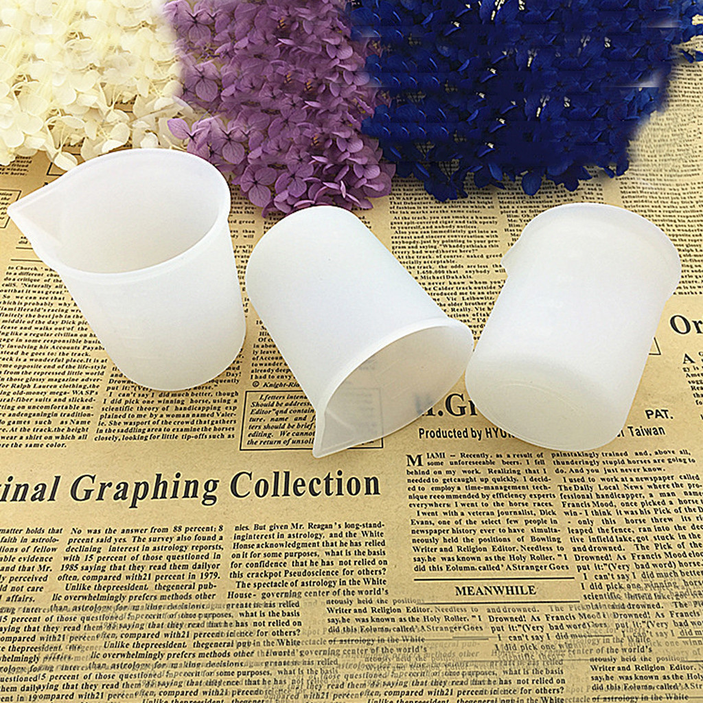 5pcs 100ML Silicone Mold Cup Measuring Cup Dispenser DIY Epoxy Resin Jewelry Making Tool Handmade Craft Moulds Tools Accessories
