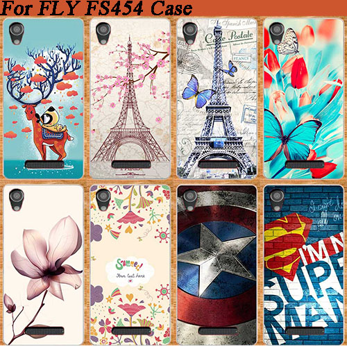 Bright 8 Colors Cover FOR FLY Nimbus 8 FS454 Super Stylish Case Popular Patterns Painting Top For Fly FS 454 Flowers Case Cover image