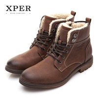 XPER Brand Men Shoes Autumn Winter Men Boots Fashion Vintage Style Male Motorcycle Shoes High Cut