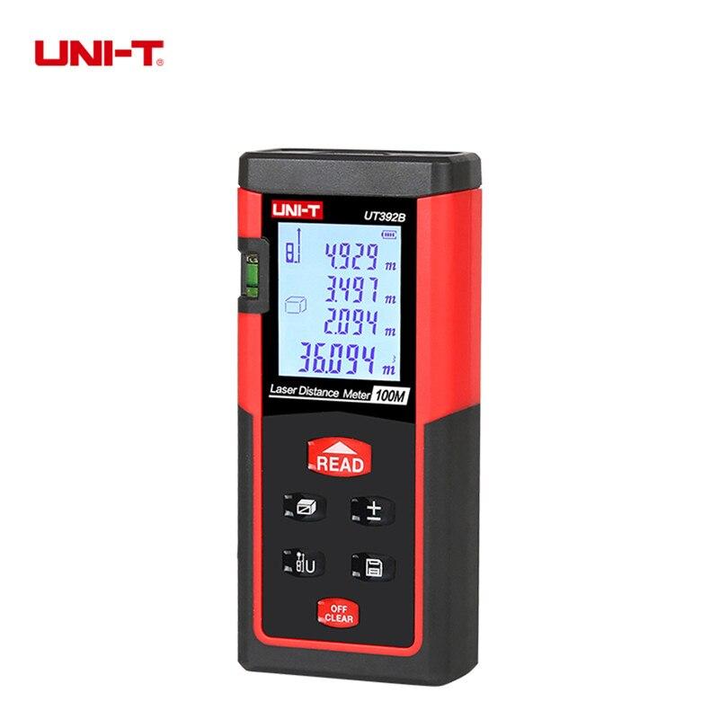 Лазерный измеритель UNI-T ut392b цифровой лазерный дальномер Мете 100 м область/объем лазерным дальномером дальнометр лазерной MESURE