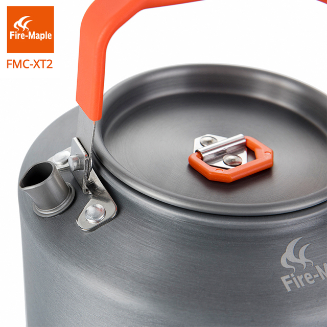 Fire Maple Hiking Kettle Outdoor Camping Cookware Heat Exchange Pinic Kettle Tea Coffee Pot 1.5L With Filter FMC-XT2