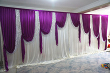 Superdeal 10ft 20ft without iron elegance wedding backdrops stage backdrops