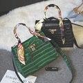 Kate 2 color nuevo de las mujeres de mensajero bolsas pequeñas de hombro alta calidad de LA PU bolso de mano de cuero pequeños bolsos de embrague cocodrilo