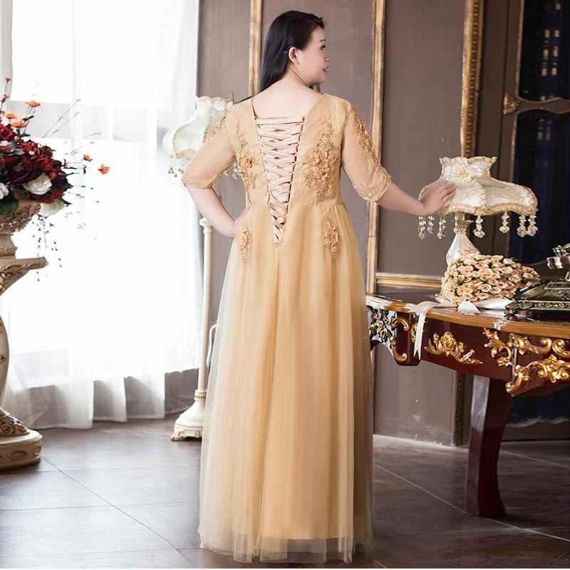 FADISTEE/Новое поступление, элегантное вечернее платье, вечерние платья, 3D Цветочная аппликация, жемчуг, кружевное платье для выпускного вечера, плюс размер, сексуальное платье с коротким рукавом