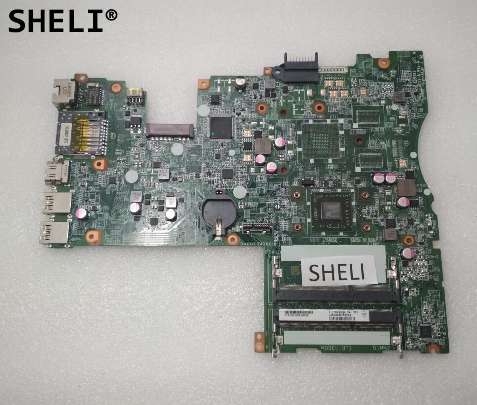 все цены на SHELI For HP 14-F Motherboard with A4-5000 cpu DA0U73MB6D0 727199-501 727199-001 онлайн