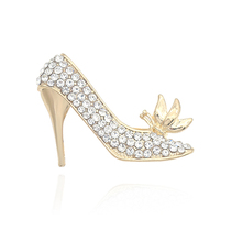 Shoes Brooch Women Flower-Pins Rhinestone Christmas-Gifts Girls Luxury for Broches High-Heeled