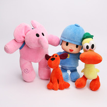 4pcs/lot  Pocoyo Stuffed Plush Doll Elephant Duck Dog Toys For Kids