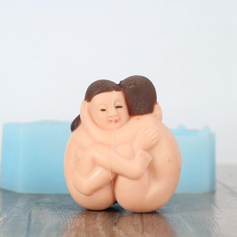 3D секс силиконовые формы для мыла ручной работы свечи, Шоколад Плесень ремесло смолы глины украшения инструмент подарки ко дню Святого Валентина
