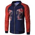 2016 Nuevo Invierno Chaqueta de Bombardero Moda Hombres Sudadera Gruesa de Eagle Posters Casual Abrigos Veste Homme Jaqueta masculina M-XXXL