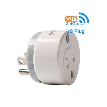 Salida Controlada Por La Aplicación   WiFi US Smart Adapter Plug Control Remoto Electrodoméstico Enchufe De Encendido/apagado A Través De Smartphone App Control Soporte Google IFTTT