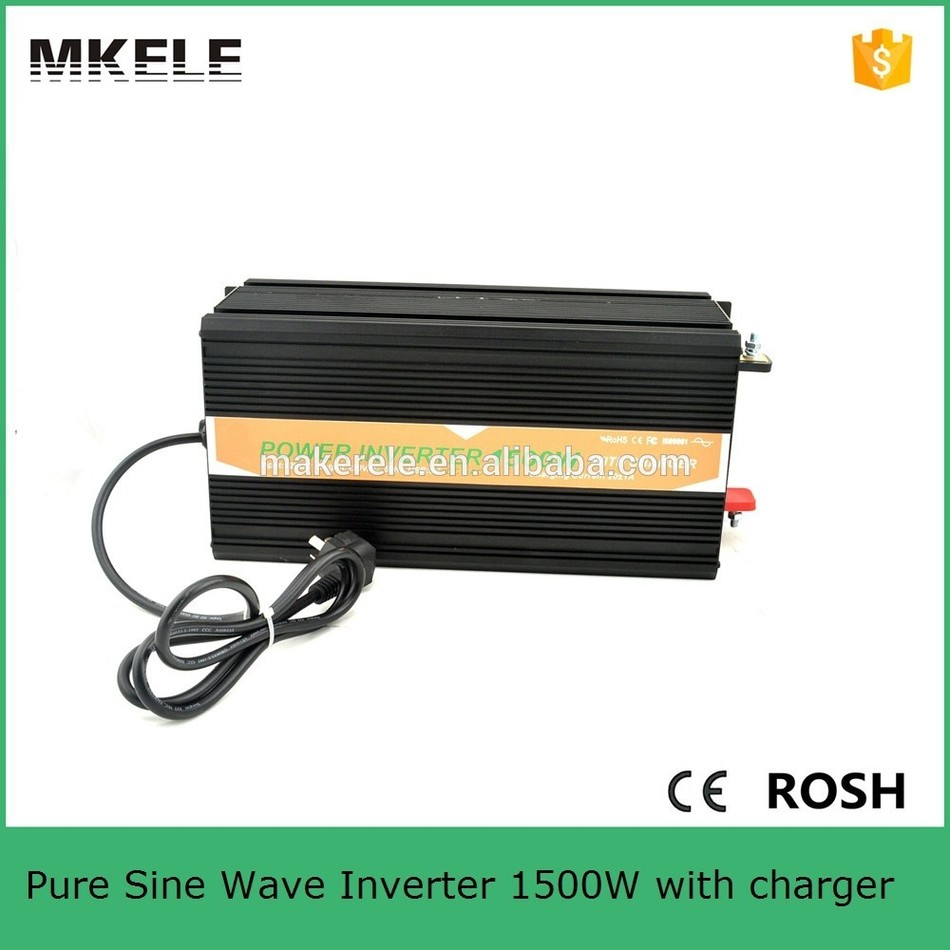 цена на MKP1500-122B-C 93% high effi. 1500w power inverter 1500w 12v 220v pure sine wave dc to ac power inverter with battery charger
