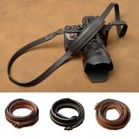 AYdgcam Brand Universal Genuine Leather Camera Strap Belt Handmade Shoulder Strap For Camera Fujifilm Leica Canon Nikon Sony