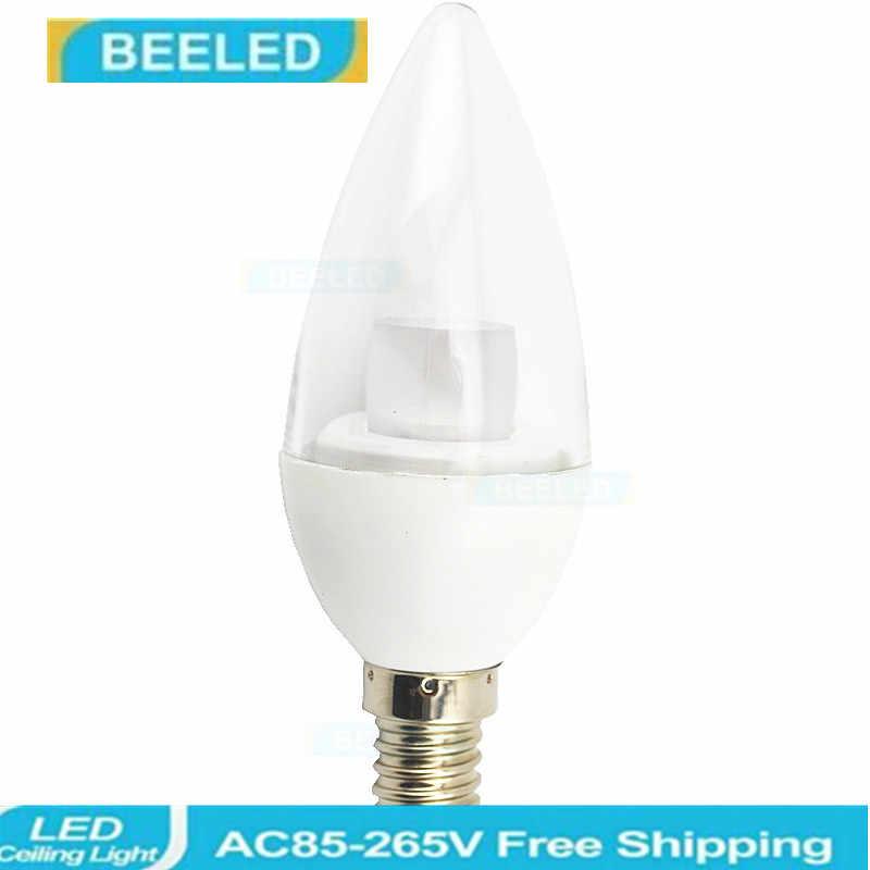 E14 LED Candle light 5 W iluminação de cristal para decoração de casa quente AC220V branco Cristal lâmpada do bulbo CONDUZIU a Lâmpada de Poupança de Energia de boa qualidade