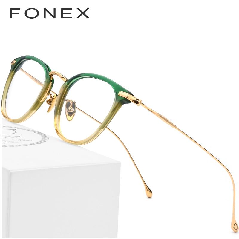 Pure B Titanium Optical Glasses Frame Men Vintage Square Prescription Eyeglasses Women Retro Round Myopia Spectacles Eyewear 839