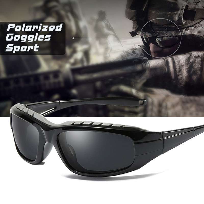 High Quality Windproof HD Polarized Sports Men Sunglasses Tactical Outdoor Anti UV Goggles Eyewear Oculos De Sol Masculino Gafas