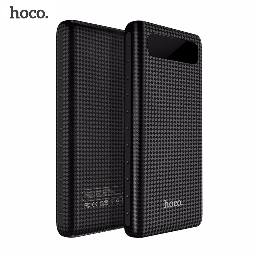 HOCO 20000mAh Dual USB Power Bank 18650 Bärbart externt batteri Universal mobiltelefonladdare PowerBank 10000mAh för telefoner