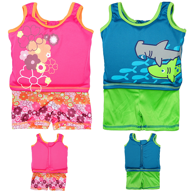 2-6 Swim Vest Kids Life Jacket Kids For Swimming Swimsuit Jumpsuit With Foam Girls Boys Sun Protection Sleeveless Swim Trainer