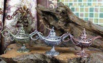 20pcs Fairy Tale Magic Lamp Thurible Vintage Censer Metal Aroma Burner Incense Burner Free Shipping wen6782