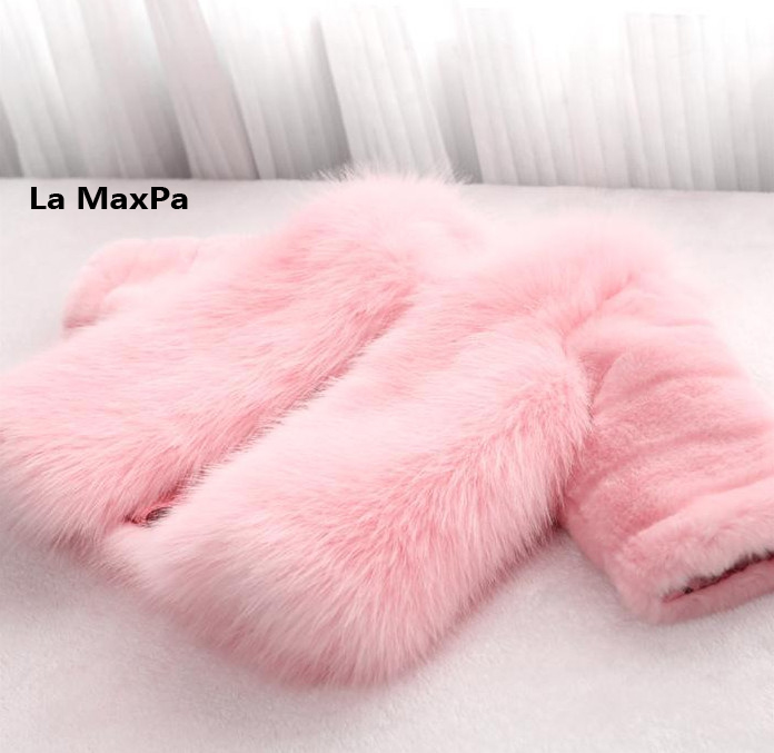 Fashion Kids clothes winter fur coat for girls baby clothes parka elegant clothing for girls girl