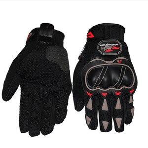 Image 3 - 革手袋のオートバイの手袋オートバイモトクロスバイク乗馬通気性男性女性フルフィンガータッチスクリーン手袋