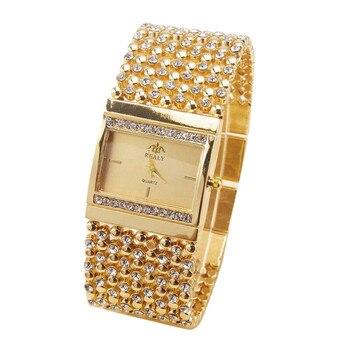 Ladies Watches Rhinestone Crystal Analog Wrist Watch Exquisite Diamond Women's watches bayan kol saati Features Square Dial B40