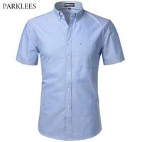 Cotton Shirt Men 2017 Summer Brand New Short Sleeve Mens Dress Shirts Chemise Homme Casual Slim
