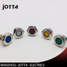 12mm Momentory LED light Ring Lamp type stainless steel push button switch with flat round цена