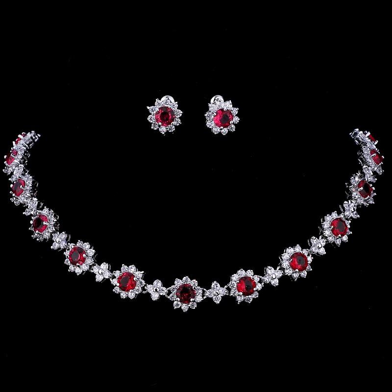 Emmaya Luxus Kubikzircon Kristall Brautschmuck Sets Halskette Ohrringe Sets Für Frauen Hochzeit Schmuck Durchblutung GläTten Und Schmerzen Stoppen Brautschmuck Sets
