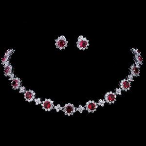 Image 1 - Emmaya ensembles de bijoux de luxe en cristal Zircon cubique, ensembles collier boucles doreilles pour femmes, fête de mariage