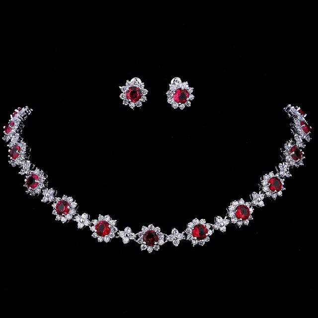 Emmaya ensembles de bijoux de luxe en cristal Zircon cubique, ensembles collier boucles doreilles pour femmes, fête de mariage
