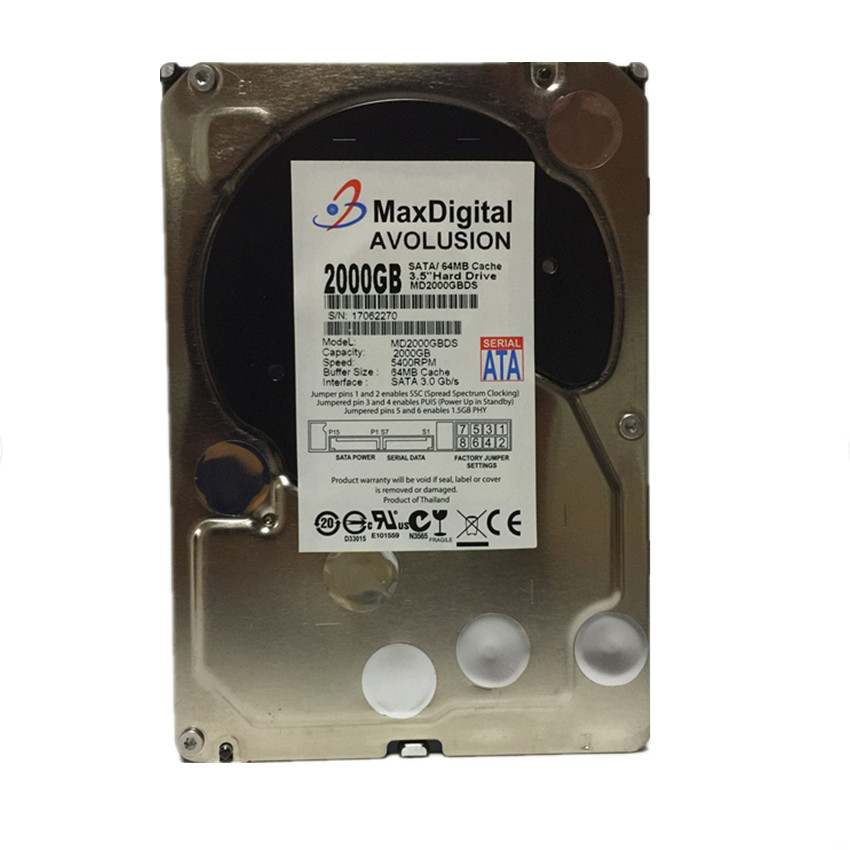 2000GB SATA 3.5 Enterprise Grade Security CCTV Hard Drive Warranty for 1-year hard drive x274a 146g 10k fc x274 3 5 scsi one year warranty