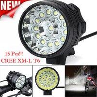 Yüksek Kalite 34000 Lm 15x CREE T6 LED 3 Modu Bisiklet Lambası Bisiklet Işık Far Bisiklet Torch
