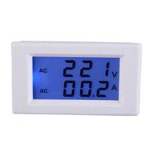 Digital AC 100 300V 50A Ammeter Voltmeter LCD Display Volt Amp Panel Meter Blue Blacklight Without