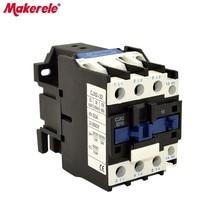CJX2-3210  AC Contactor 32A 35mm Din Rail  50/60Hz 3P 1NO 380V 220V 110V 36V 24V Coil Volt Contactor стоимость