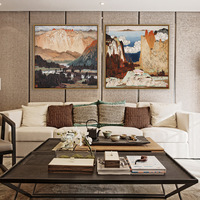 Chinese style Decorative paintings Ink painting pattern Hanging pictures Living room entrance mural Sofa background wall paints