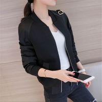 Female Students And Korean Short Sleeved Jacket Jacket All Match Baseball Uniform 2017 New Women S