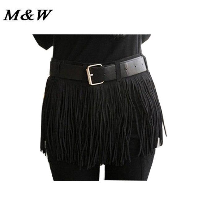 2017 Korean Spring PU Leather Tassels Fake Skirt Luxury Belts Wild Beautiful Ceinture Elegant Waist Belts For Women Wholesale