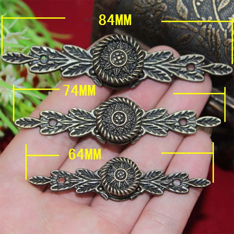Antique European Flower Handle Drawer Wardrobe Door Handle Wooden Box Mini Handles With Screws Zinc Alloy,Bronze Tone,10Pcs bronze glass door handle modern european luxury stainless steel door handle chinese antique wooden door handles