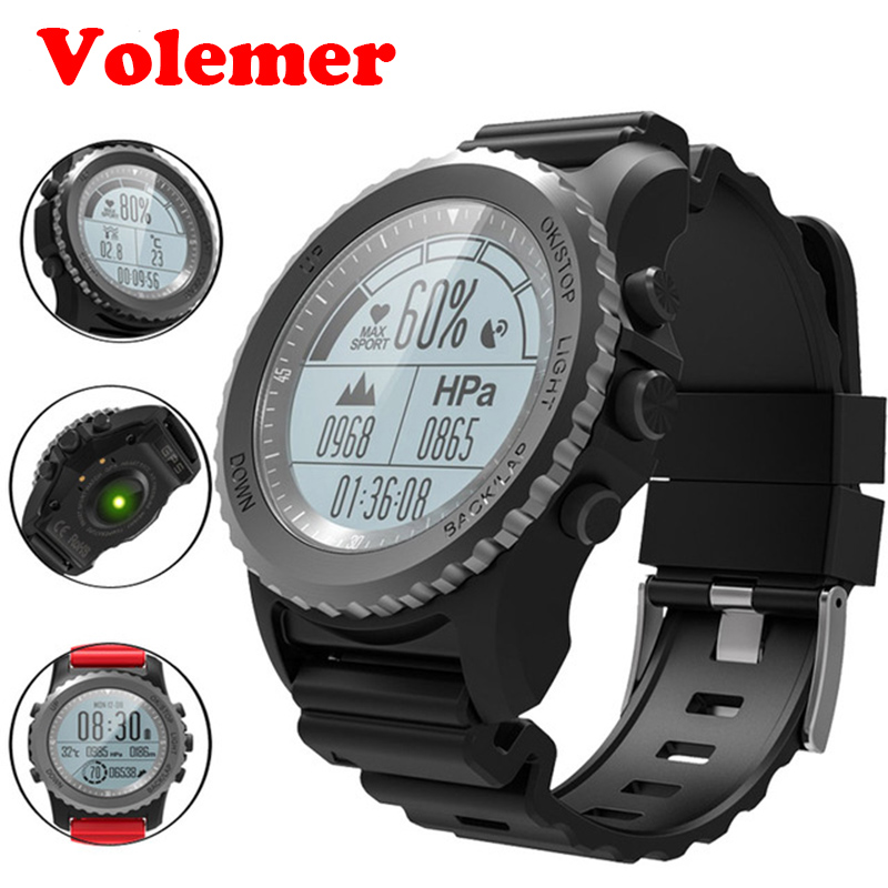 Volemer S968 Outdoor Sport GPS Smart Watch Swim Climbing Wristwatch IP68 Waterproof Heart Rate Barometer Thermometer Altimeter