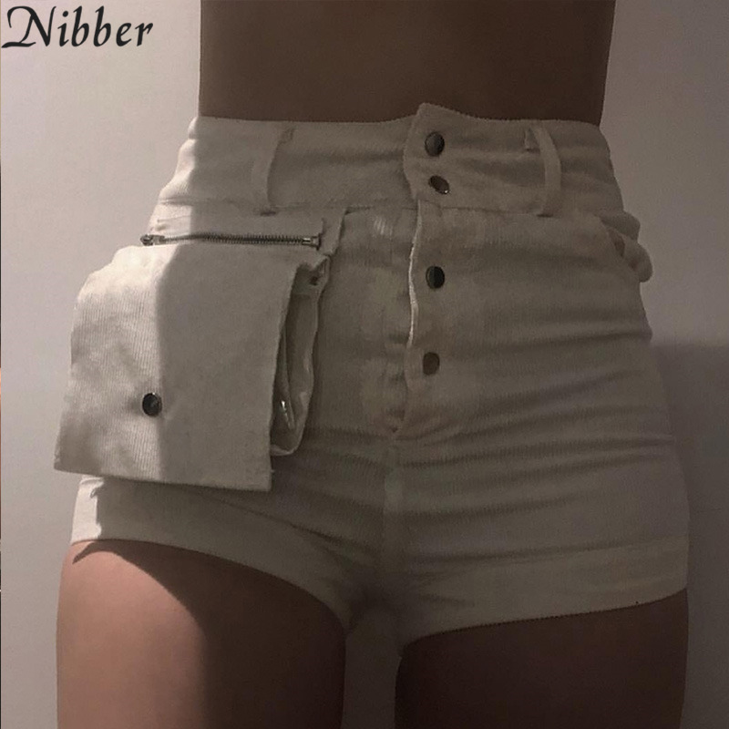 Nibber white cute bag denim   shorts   women summer fashion Street style casual   shorts   2019 ladies Beach leisure vacation panties