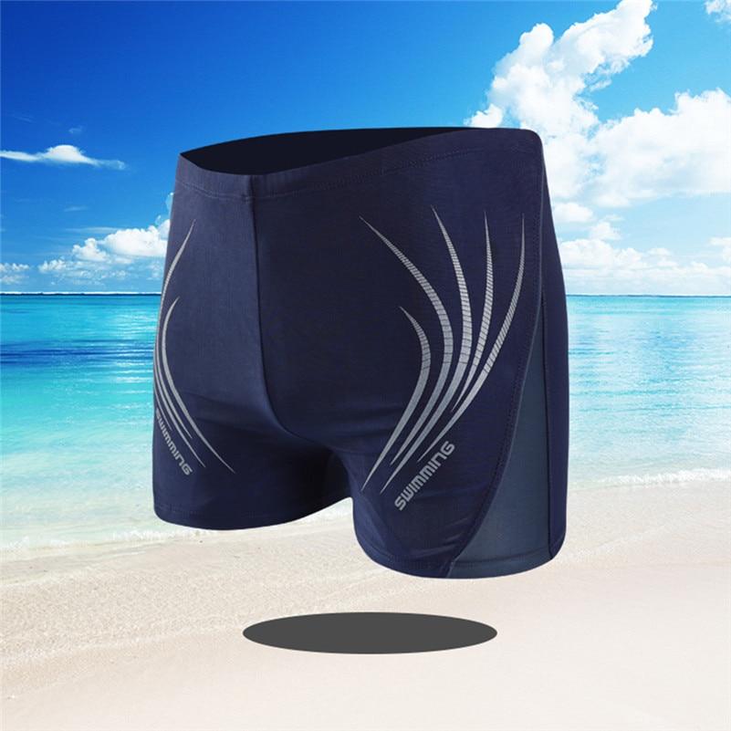 Elastic-Pants Boxer Swimming-Trunks Boy 4zg Rope Head Men's Fashion Built-In