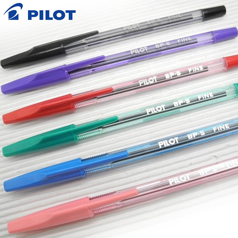 Pilot BP-S-F 0.7mm fine Ball Point Pen black/blue/red/green/purple/pink Color 9077 cute fun giraffe style 0 5mm blue ink ball point pen gray pink black