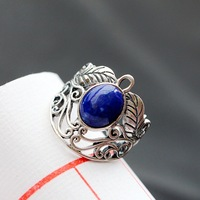 Ecoworld Ge Silver Wholesale 925 Sterling Silver Ring Inlaid With Lapis Thai Silver Handmade Natural Ring