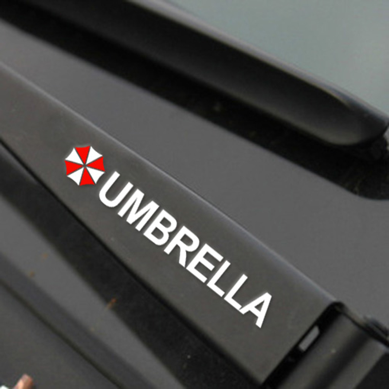 UMBRELLA resident evil style car door handle decor stickers and decals,reflective car styling cover,4 pcs/lot