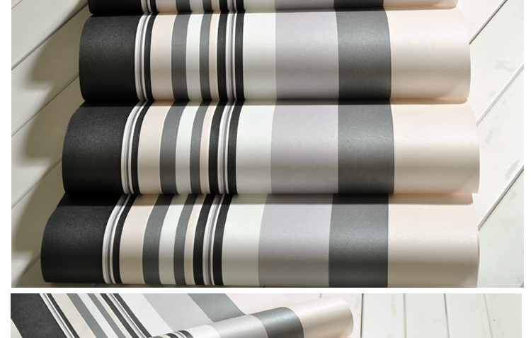 Buy modern black and white stripes for Grey striped wallpaper living room