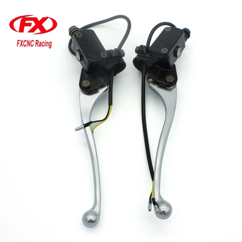 FX CNC 7/8 22MM Universal Fit 50CC-400CC Street Motorcycle And Scooter Motorcycle Brake Clutch Master Cylinder Levers Reservoir easy ride kids 2 pedal scooter dual pedal scooter double pedal scooter with brake and musical light and safety helmet 7 safer