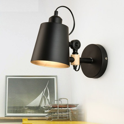 Nordic Simple Modern Wall Sconce Adjust Wood Iron Wall Light Fixtures Balcony Aisle Home Indoor Lighting Bedside LED Wall Lamp iwhd simple modern led wall sconce adjust wood iron wall light fixtures for aisle bedside wall lamp home indoor lighting