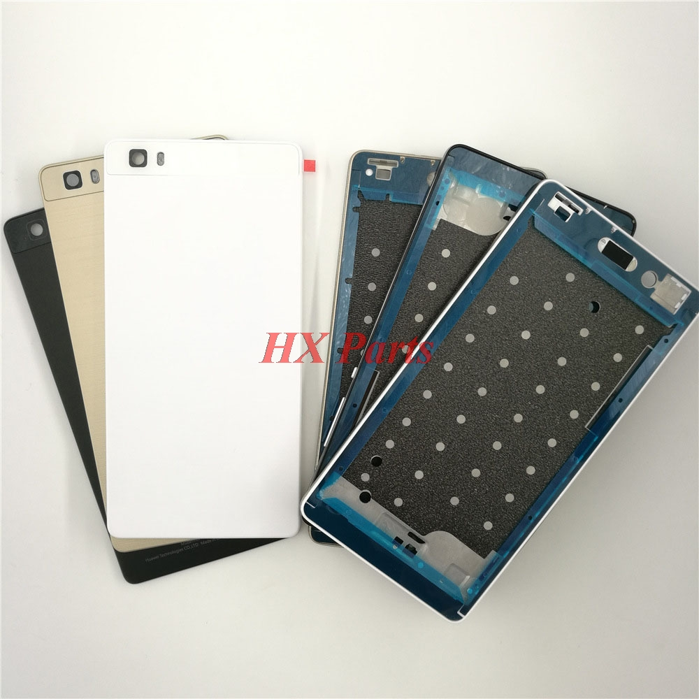 US $9 5  For Huawei P8 Lite Original New Complete Full Housing Cover LCD  Front Frame+Back Battery Cover+Middle Frame Adhesive Sticker-in Mobile  Phone