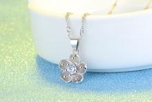 Silver Flower Shiny Crystal Ladies Fashion Pendant for Women
